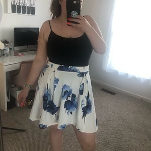 Fashion to Figure High Low Floral Skirt